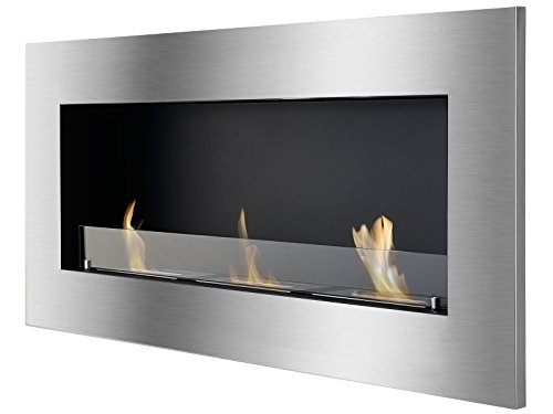 %15 OFF! IGNIS Recessed Wall Ventless Bio Ethanol Fireplace - Optimum