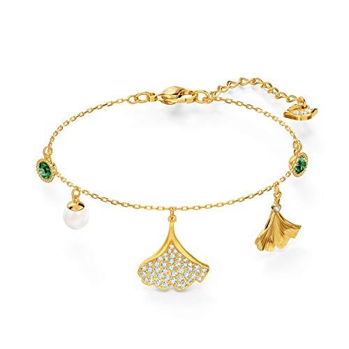 Swarovski Braccialetto Stunning Ginko, Verde, Placcato Color Oro
