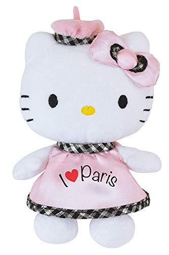 JEMINI 023360 HELLO KITTY peluche I LOVE PARIS +/- 17 CM