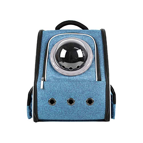 XUYAN Pet Carrier Backpack, Pet Carrier Bag with Mesh for Large Cat And Small Puppy, for Walking,Hiking,Cat And Dog Go Out Carrying Case,Blue