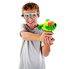 Bring the excitement of splatoon to life with the all new splatoon splattershot mini Shoot targets up to 20 feet away Washable gooey ink included in each pack Includes one canister of ink, good for up to 50 shots, and a pair of inkling goggles For ag...
