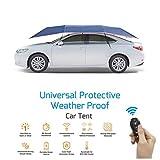 DOOKK Tenda Automatica per Auto con Telecomando, Carport Mobile Pieghevole Protezione Portatile per Auto Ombrello Auto Sunproof Sun Universal