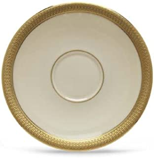 Lenox Lowell Gold Banded Ivory China Demitasse Saucer