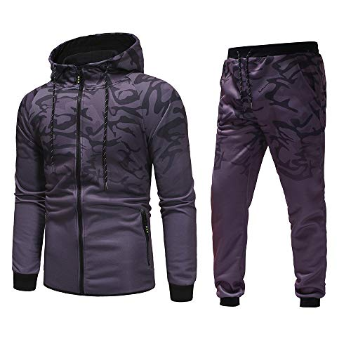 serliy😛Herren Camouflage Army Jogginganzug Jogging Hose Jacke Sportanzug Military Sportanzug Sporthose + Zip Jacke Modell