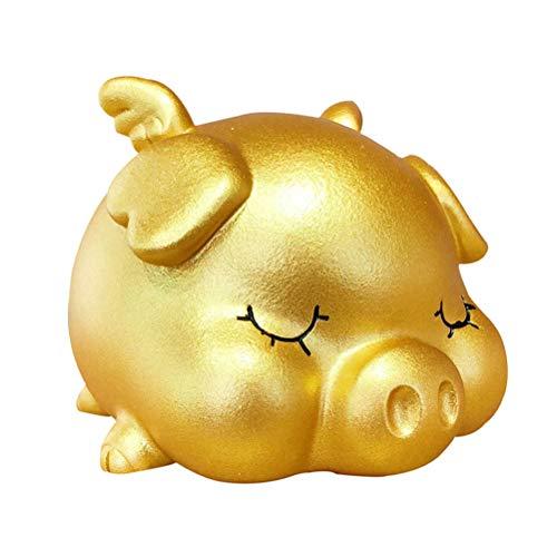 LIOOBO Nettes Sparschwein-Münzen-Bank-Glück-Karikatur-Schwein-geformtes Geld-Halter-kreatives Geschenk