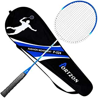 Portzon Badminton Racquet,Premium Quality Badminton Racket,Lightweight & Sturdy Perfect for Beginner,1 Carrying Bag Included, Single