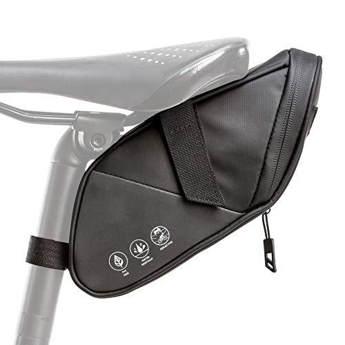 Bolsa para sillín de bicicleta, paquete de cuña impermeable, con cremallera resistente al agua y revestimiento reflectante de tres lados, herramientas de reparación paquete, suministros para ciclismo