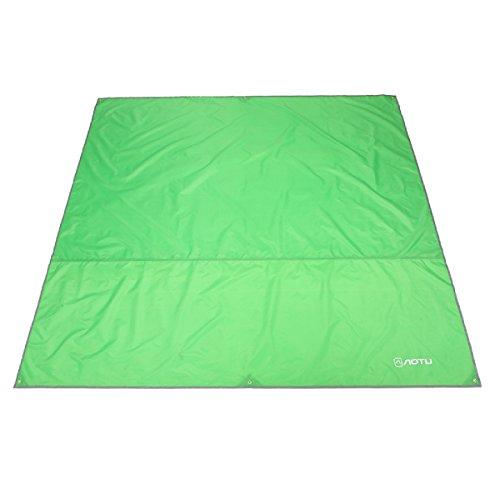 Azarxis Telo Impermeabile Parasole da Campeggio, 1,8x2,2 m Tarp Telo Ombreggiante da Sottotenda Campeggio Amaca, Tappeto da Picnic BBQ (Verde Chiaro, M - 1,8 x 2,2 m)