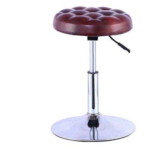 Tabouret de bar/chaise haute/télésiège/chaise pivotante (Couleur : Brun rougeâtre)