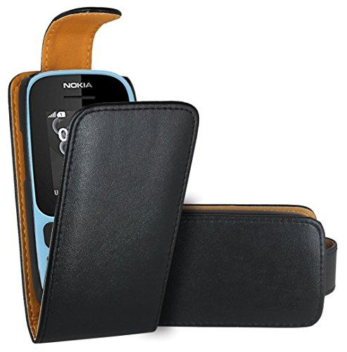 Nokia 105 (2017) Handy Hülle, FoneExpert® Hülle Hülle Cover Hüllen Etui Ledertasche Premium Lederhülle Schutzhülle für Nokia 105 (2017)