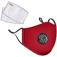 Landou Reusable Fabric Face Mask with PM2.5 Filters & External Valve