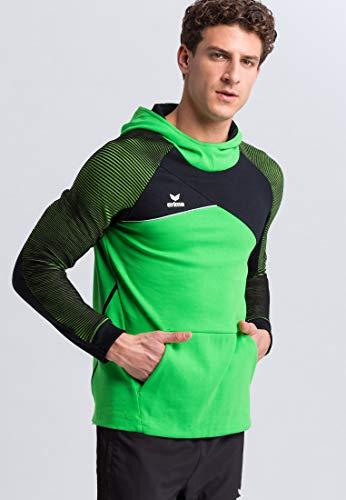 Erima Herren PREMIUM ONE 2.0 Kapuzensweat, green/schwarz/weiß, M