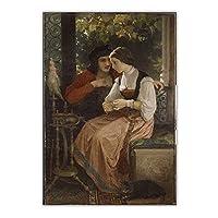 bdkym キャンバス油絵ウィリアムアドルフブーグロー「提案」耽美主義アートワークポスター美的家の装飾ポスター-60X80Cmx1フレームなし