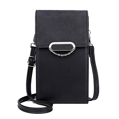 Bolso bandolera para mujer para teléfono celular, mini bolso de piel sintética, bolso cruzado para teléfono celular, cartera con ranuras para tarjetas de crédito para niñas y mujeres