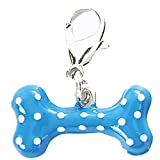 Lankater Collier Chien Chat Charms Forme Os Pendentif Porte-clés Charme Colliers Colliers Accessoires Animaux