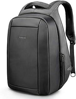 Mochila de viaje con cremallera antirrobo de 15.6 pulgadas, impermeable, con puerto de carga USB, color negro, Negro (Negro) - jienan001
