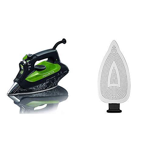 Rowenta Eco Intelligence DW6010D1 Plancha de Ropa, 30% Ahorro energía, Suela microsteam 3D Laser con Punta de precisión - Plancha Desmontable, Recubierto de teflón, fácil de Colocar y Quitar
