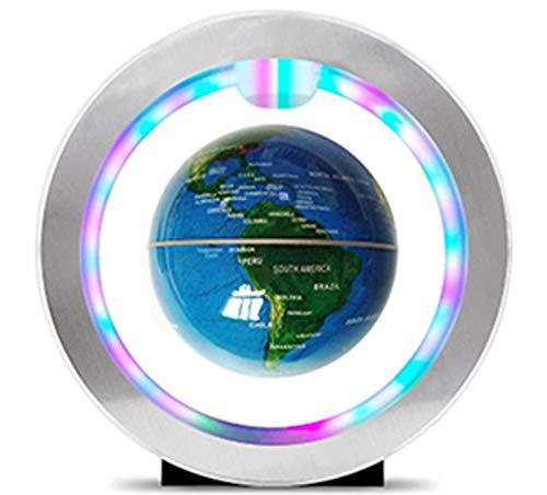 STARAYS De Tipo O Levitación Magnética Globo, 4 Pulgadas Color Luces Anti-Gravedad Rotativos Mapa del Mundo, Usados para La Decoración del Hogar Enseñanza LED