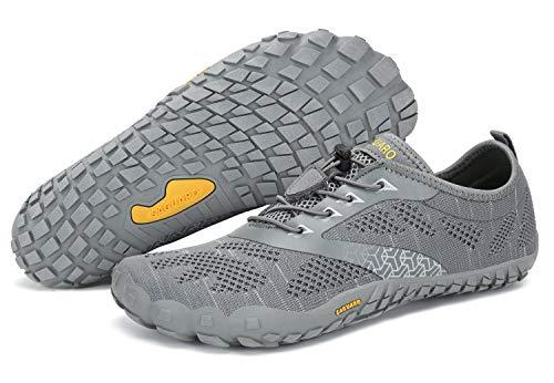 SAGUARO Unisex Wasserschuhe Schnell Trocknend Traillaufschuhe Straßenlaufschuhe Fitnessschuhe rutschfest Outdoor für Damen Herren Grau 43