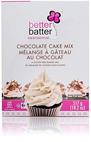 Batter Batter Gluten Free Cake Mix - GF Baking Mix for Cakes and Cupcakes - Free From the Top 11 Allergens - Vegan, Kosher, Dye-Free, Non-GMO - Gluten-Free Chocolate Cake Mix, 18.25 oz