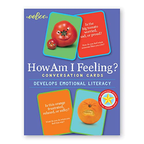 eeBoo How am I Feeling Flash Cards, Emotion Conversation Cards