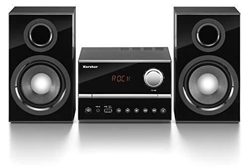 Karcher MC 6445 Kompaktanlage mit CD Player - Stereoanlage mit UKW Radio und Senderspeicher - USB zur MP3-Wiedergabe - Fernbedienung schwarz