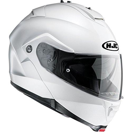HJC IS-MAX II Aufklappbar Vorne Motorrad Helm - Weiß, Medium
