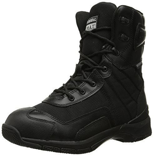 Original S.W.A.T. Men's H.A.W.K. 9 Inch Side-Zip Military and Tactical Waterproof Boot, Black, 11 D US