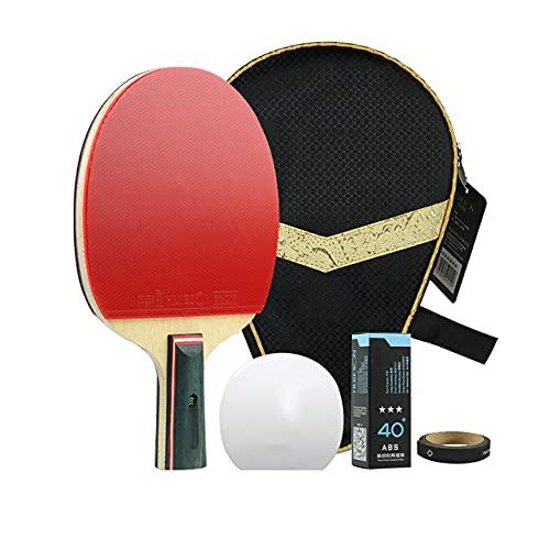 LINGOSHUN Raquetas de Ping Pong,Juego de Paleta de Ping-Pong para Juegos Familiares, kit de Raqueta de Entrenamiento / 1 Pack/Short handle