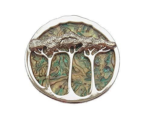 Brosche Magnetbrosche Schal Clip Bekleidung Poncho Taschen Stifel Textilschmuck Baum Lebensbaum Rosegold Matt