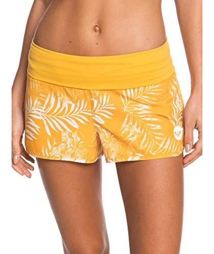 Roxy Damen Endless Summer Print Boardshorts, Mineral Yellow Lirely S, X-Large