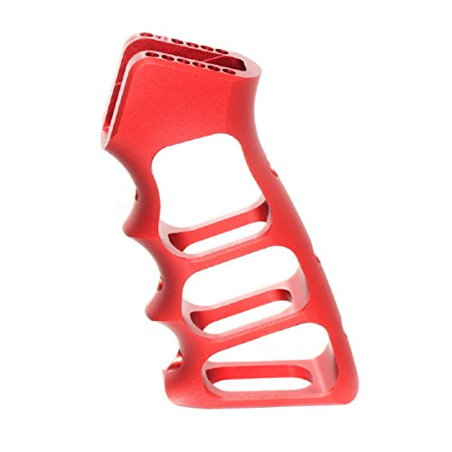 Airsoft Softair Ersatzteile 5KU CNC Skeletonized Pistolen-Griff für WA M4 M16 GBB Rot