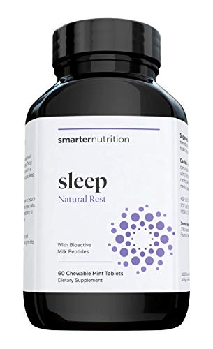 Smarter Sleep - Nighttime Sleep Aid with Bioactive Milk Peptides - Includes Melatonin, a Naturally-Occurring Hormone for Regulating Sleep (30 Servings)