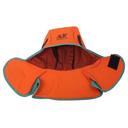 Orange Schweißkappe Schweißermütze Schweißhelm Schweißmaske, Kopfschutz & Nackenschutz