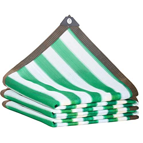 ZRY Toldos para Patio Velas de Sombra Malla Sombra Bloqueador Solar Verde Raya, Personalizable Exterior Patio Red de Aislamiento, Tasa de Sombreado 90% (Size : 1x1m)
