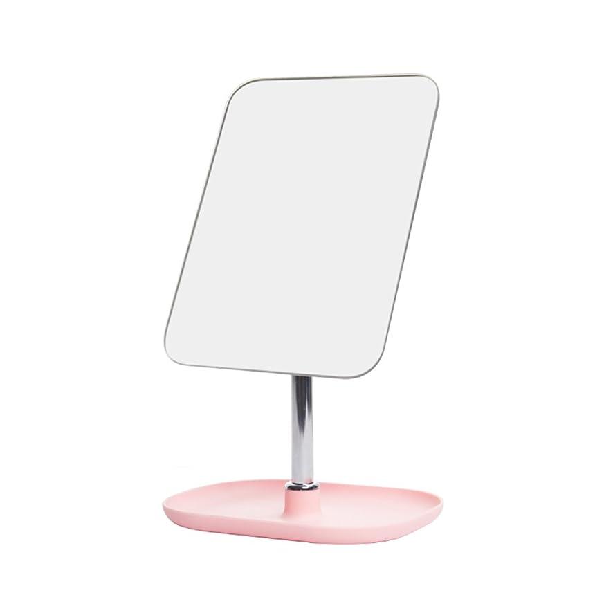 非アクティブ取り戻す流出明るい鏡 クリエイティブミラー、デコレーション/収納ボックス/ドレッシングミラー/ベッドルーム/リビングルーム/ピンク/メイクミラー メイクアップとミラー (Size : 14.5*19.5CM)