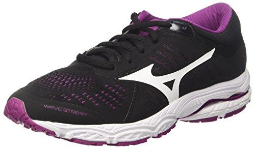Mizuno Wave Stream Wos, Zapatillas de Running Mujer, Multicolor (Black/White/Clover 01), 37 EU
