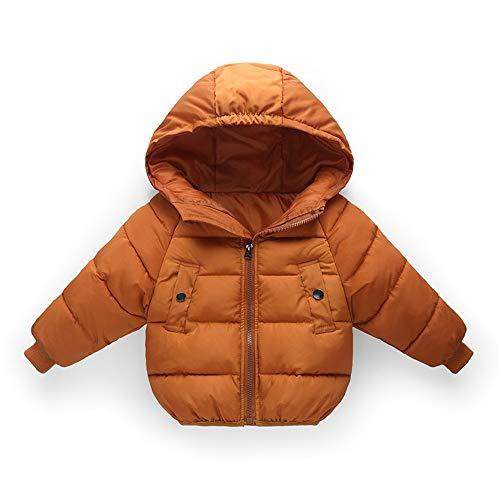 Veste à capuche Kid Veste bébé d'hiver manteau à capuchon Veste Veste légère Vêtements fille de garçon de Noël Vestes cadeau Manteaux Manteau d'hiver mince ( Color : Green , Size : 110cm )