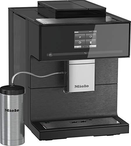 Miele CM 7750 CoffeeSelect Kaffeevollautomat per Smartphone mit WiFiConn@ct bedienbar, Kaffeemaschine mit 3 Bohnenbehältern, Kaffeeautomat mit vollautomatischer Entkalkung & Tassenwärmer, Schwarz