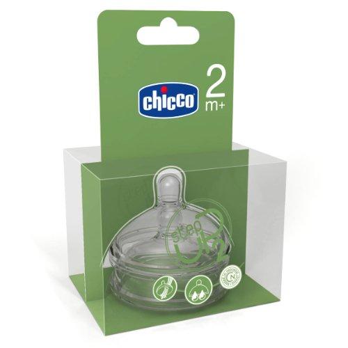 Chicco Tettarella in silicone Step-Up 2, flusso regolabile, confezione da 2