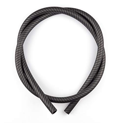 K King'z® Shisha Schlauch schwarz in Carbon matt | Silikonschlauch Shisha | kompatibel mit jedem Mundstück und Adapter | Wasserpfeife Zubehör inclusive eBook