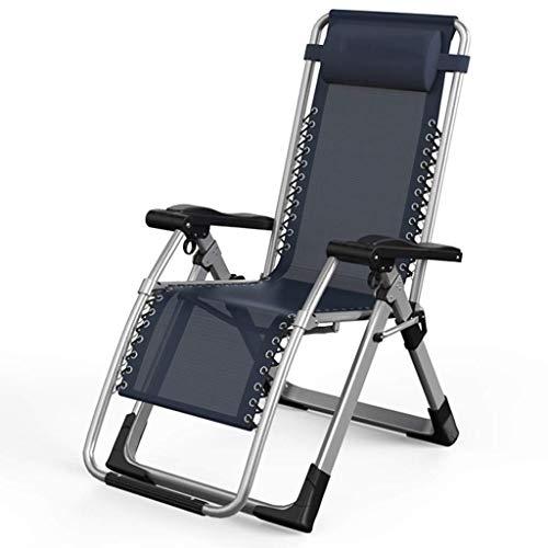 WJJJ Stuhl Schwerelosigkeit Stühle Außenverstellbare Gartenstühle Klappbare Textoline-Liegestühle für Terrasse und Garten mit Kopfstütze (Farbe: EIN Kunststoff-Vorhängeschloss)