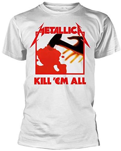Metallica 'Kill Em All' White Unisex T-shirt, S to XXL