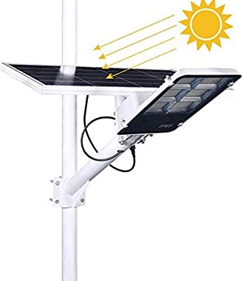 360W Solar Street Lights Outdoor - with Remote Control LED Solar Power Street Lamp 6500K Daylight White