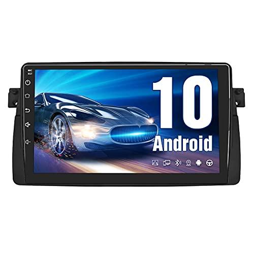 AWESAFE Android 10.0 [2GB+32GB] Radio Coche para BMW E46/Rover 75/MG ZT con Pantalla Táctil 9 Pulgadas, Autoradio con Bluetooth/GPS/FM/RDS/USB/RCA, Apoyo Mandos Volante, Mirrorlink y Aparcamiento
