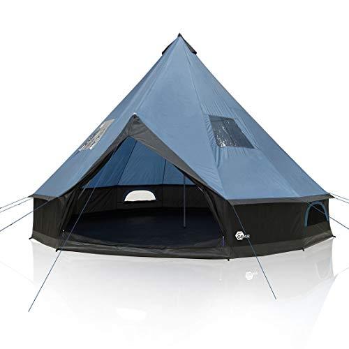 your GEAR Tente Ravello 500, Tipi pour 6-8 Personnes Tente familiale Hauteur Libre Sol Cousu...