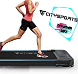CITYSPORTS Cinta de Correr Caminar Eléctrica Motor 440W, Altavoces Bluetooth, Velocidad Ajustable, Pantalla LCD y Contador de Calorías, Ultradelgado y Silencioso, Diseñado para el Hogar/la Oficina