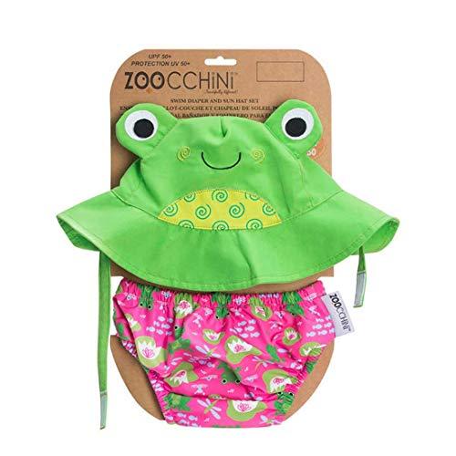 Zoocchini maillot/sombrero, diseño de rana, L (12-24 meses)