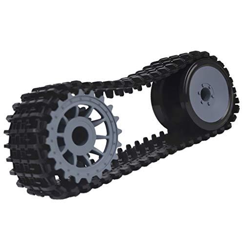 Unbekannt Raupenkette Panzerkette für Roboter Panzer Plattform DIY Arduino RC Auto Wissenschaft Spielzeug
