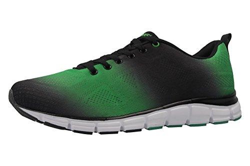 BORAS - Herren Sneaker - Grün/Schwarz Schuhe in Übergrößen, Green/Black, 47 EU